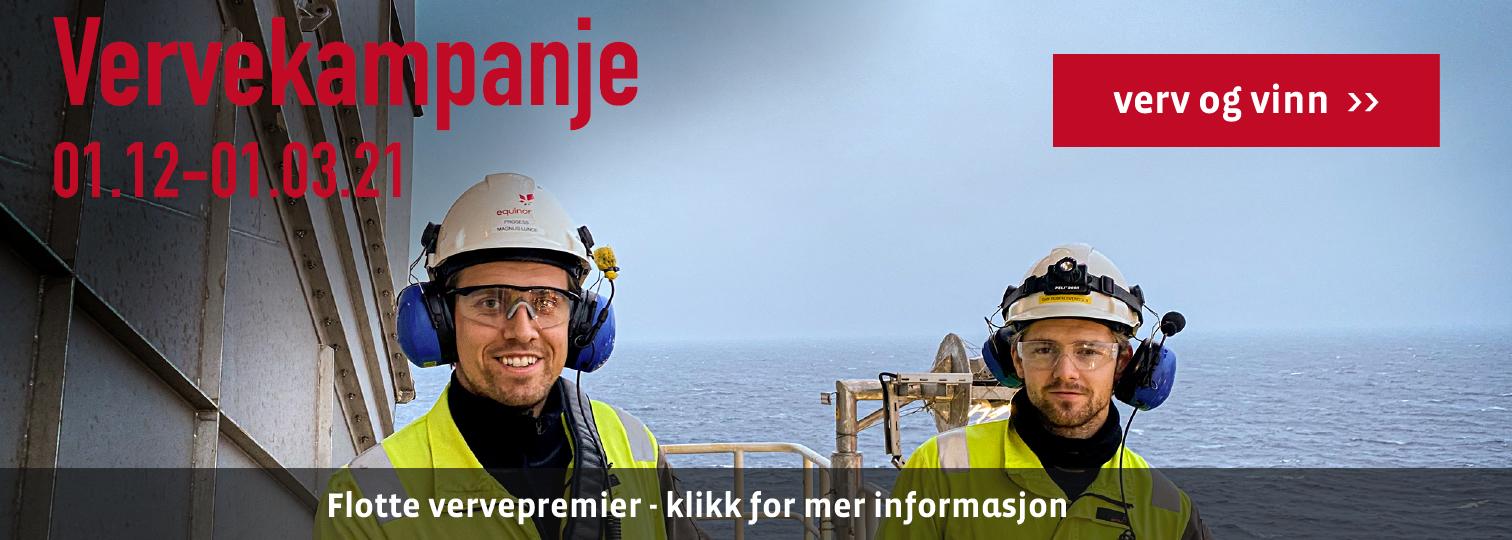 SAFE i Equinor - Vervekampanje - Verv og vinn - flotte vervepremier